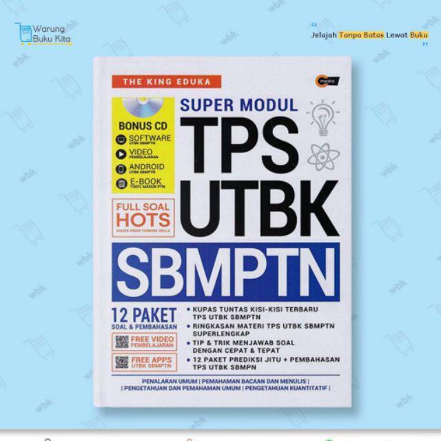 Modul Cerdik Tps Utbk Sbmptn Cd The King Eduka 100 Original Shopee Indonesia
