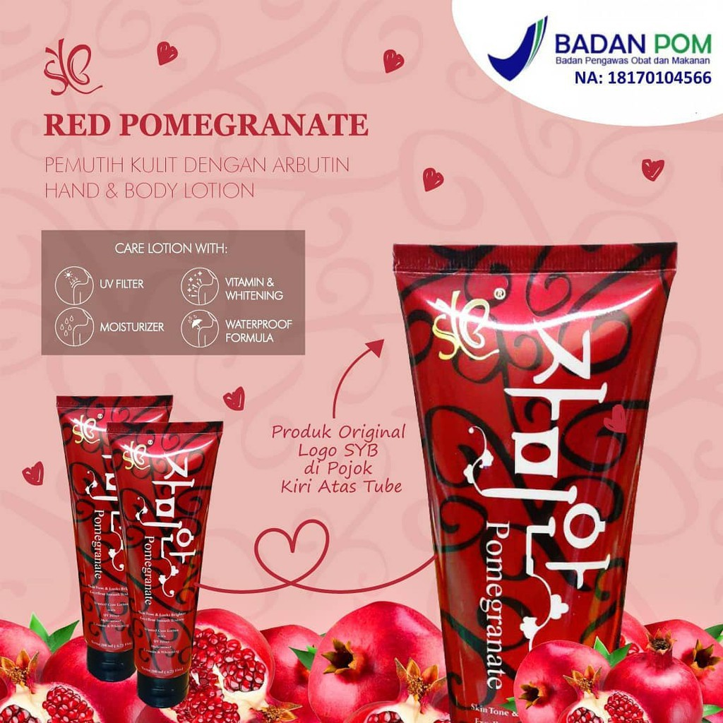 [SYB]BPOM RED POME POMEGRANATE REDPOME LOTION | Shopee Indonesia