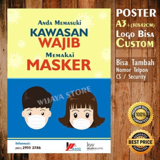 Poster A3 Kawasan Wajib Masker -edit Desain New Normal