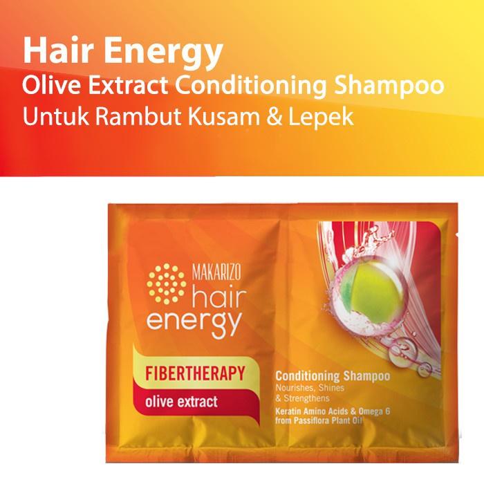 Makarizo Hair Energy Conditioning Shampoo Fibertherapy 10ml Sachet Original BPOM-3