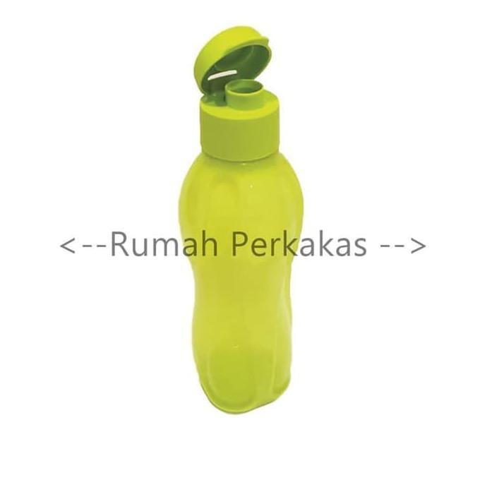 (BARANG ORIGINAL) Eco Bottle 750ml Hijau Neon tempat minum botol air TAPERWER ORI BEST SELLER