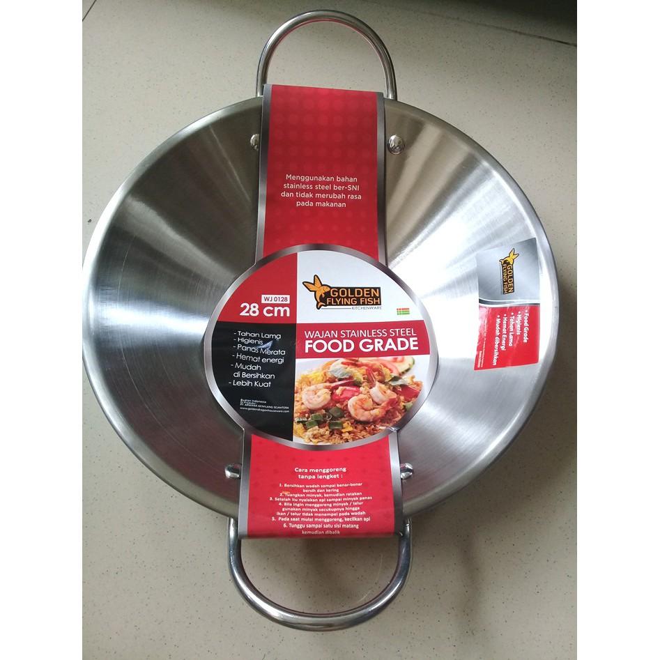 Golden Flying Fish Panci Set Stainless 24 Cm Dan 17 Update Fry Pan Stfp0120 Steel Food Grade 2 Pcs Spc1824 S Shopee