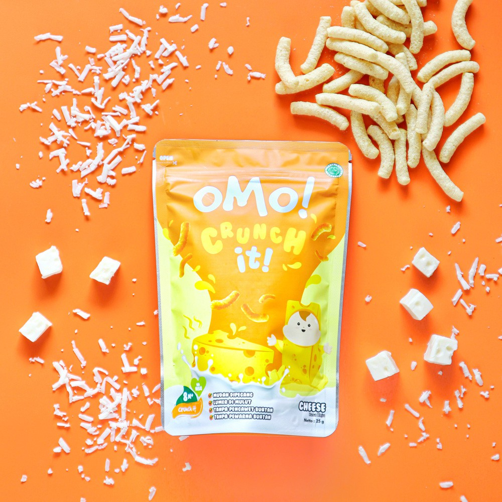OMO! CRUNCH IT CHEESE – Snack Sehat Bayi 8 Bulan