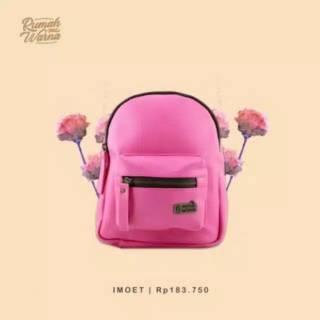 Tas Ransel IMOET Pink Fanta Rumah Warna  75abc99607