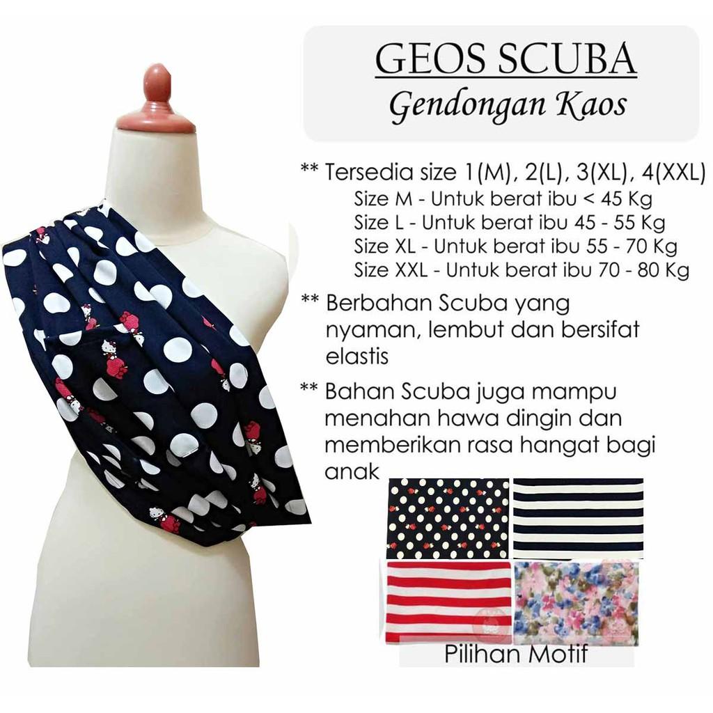 Sz 1 Geos Gendongan Kaos Fleece Baby Cotton Carrier Bayi Simple Sling Size Xl Praktis Gs Akachan Shopee Indonesia