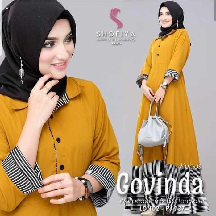 Terbaru 2020 Nisa Sabyan Gamis Modern Busana Muslim Wanita Ter Ur438 Baju Syari Govinda Maxi Dress Shopee Indonesia