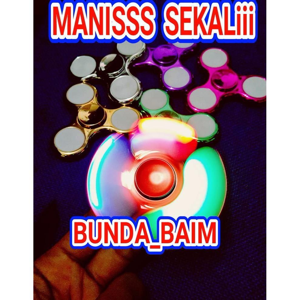 Spinner Murah Lampu Shopee Indonesia Pelastik Segi Lima 3 Bola Besi