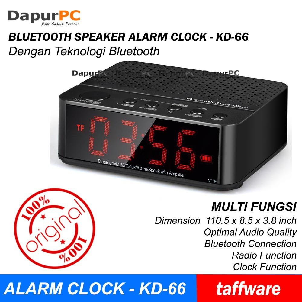 S61 SPEAKER BLUETOOTH JAM ALARM + RADIO + MICROSD SLOT + USB PORT + CLOCK  PORTABLE SUARA MANTAP  bba673a506