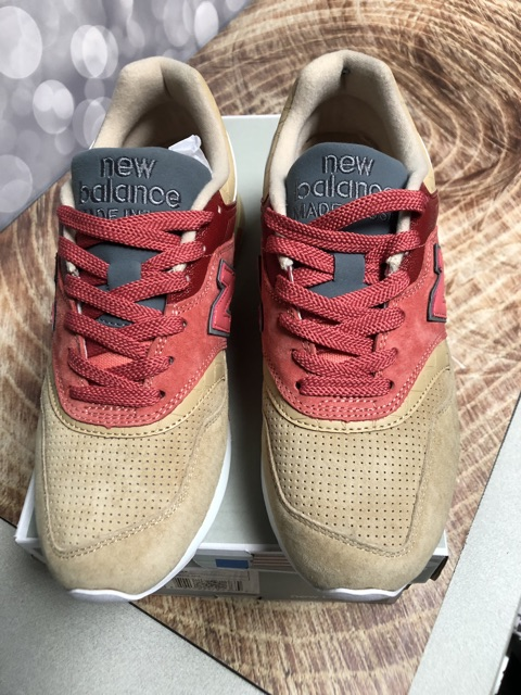 sports shoes b3d48 8ba50 NEW BALANCE M997ST MADE IN USA BNIB PERFECT COPY BEIGE RED ...