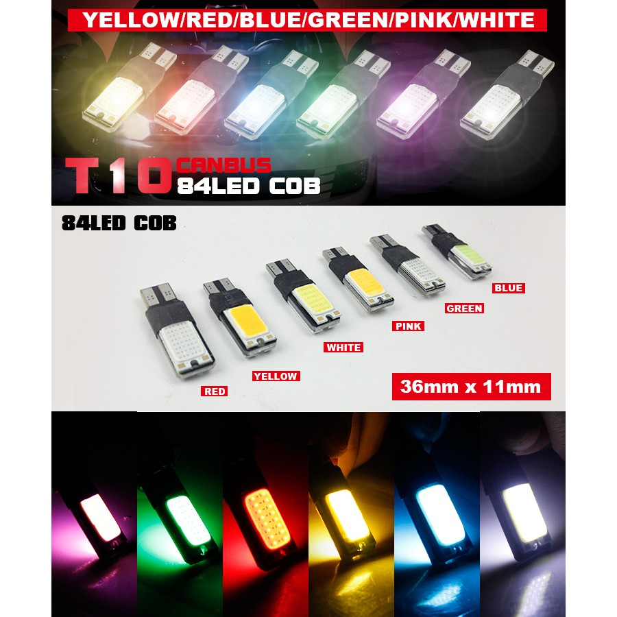 Lampu Led Mobil Motor T10 Rgb Smd Isi 2pcs Remote Shopee Indonesia Senja Jelly Silicon