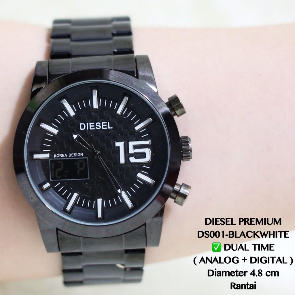 BBB Jam tangan pria premium DIESEL rantai dual time analog digital DS001  f809135ea1