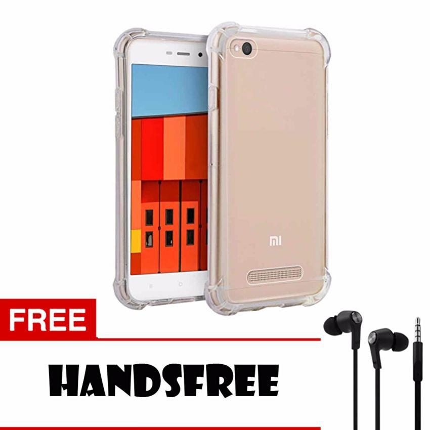Softcase Anti Shock Anti Crack For Xiaomi Redmi 4A Aircase - Putih Transparant + Free Holder Gurita   Shopee Indonesia