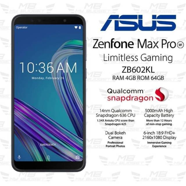 Hp Asus Zenfone Max Pro M1 Ram 4 64gb Zb602kl Garansi Resmi Shopee Indonesia