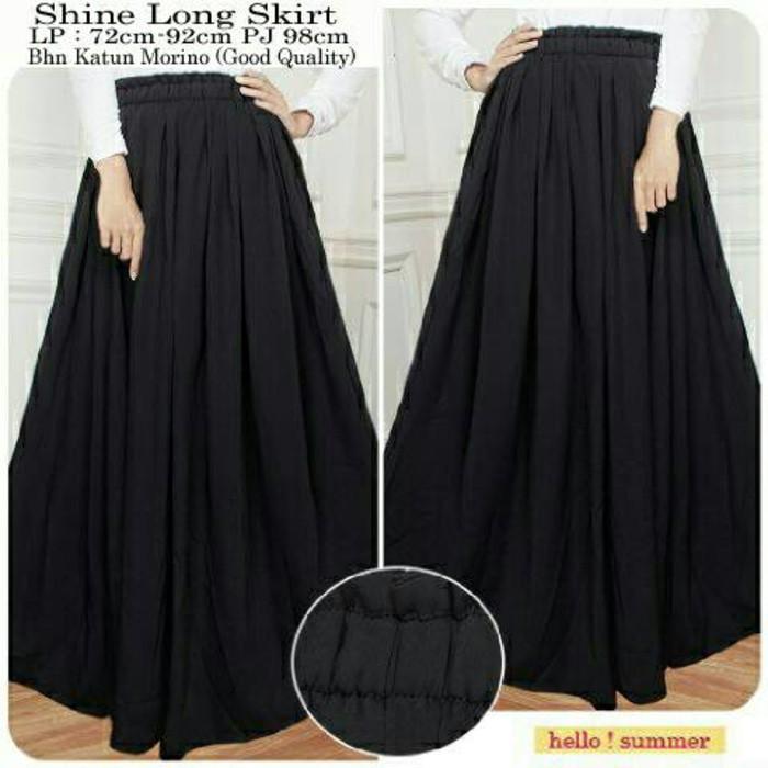 Shine Long Skirt bhn katun Morino Good Quality fit to XXL 80rb | Shopee Indonesia