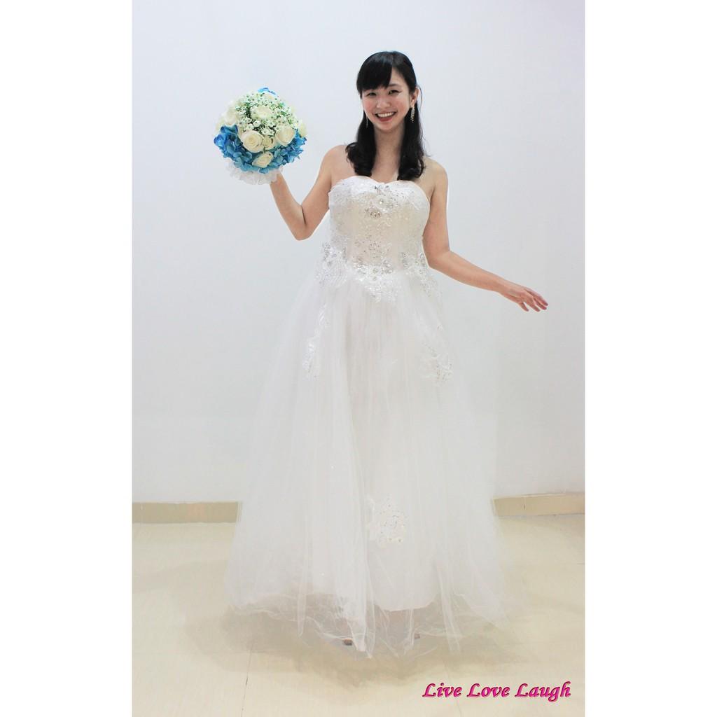"""CUCI GUDANG HARGA MURAH Gaun Pengantin Wedding Dress Strapless """"Madrid"""" 10"""