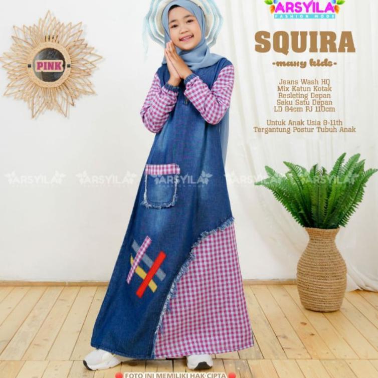 SQUIRA MAXY KIDS BY ARSYILA - MUFFY DRESS JEANS ANAK (ART. G5586)