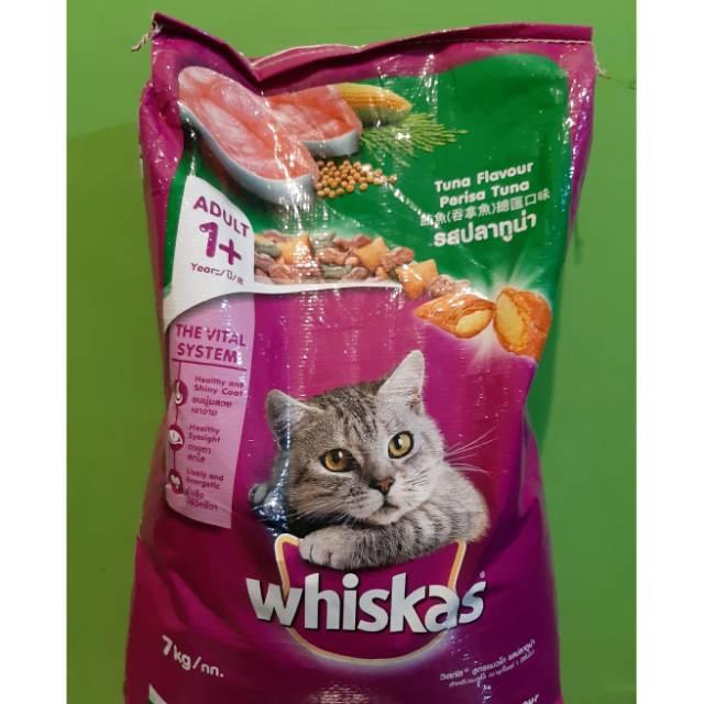 Whiskas Kering Adult 1 Tuna 7kg Makanan Kucing Kering Shopee