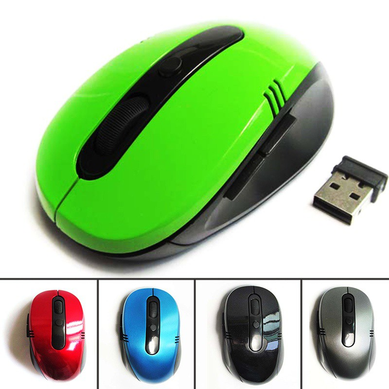 Mouse/Mice Gaming Optik Nirkabel 2.4GHz + Receiver USB 2.0 Untuk PC, Laptop