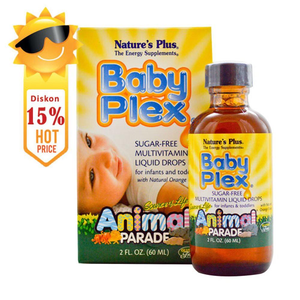 Natures Plus Animal Parade Children Multivitamin Natural Tropical Calcium Berry Flavor 8oz Shopee Indonesia