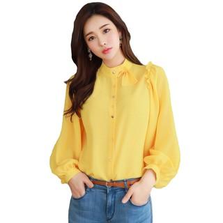 Baju Kemeja Tangan Panjang Wanita Gaya Korea Model Terbaru - XSHOP Heren | Shopee Indonesia