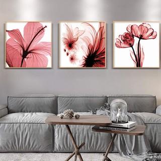 3pcs lukisan cat minyak dengan bahan kanvas dan gambar