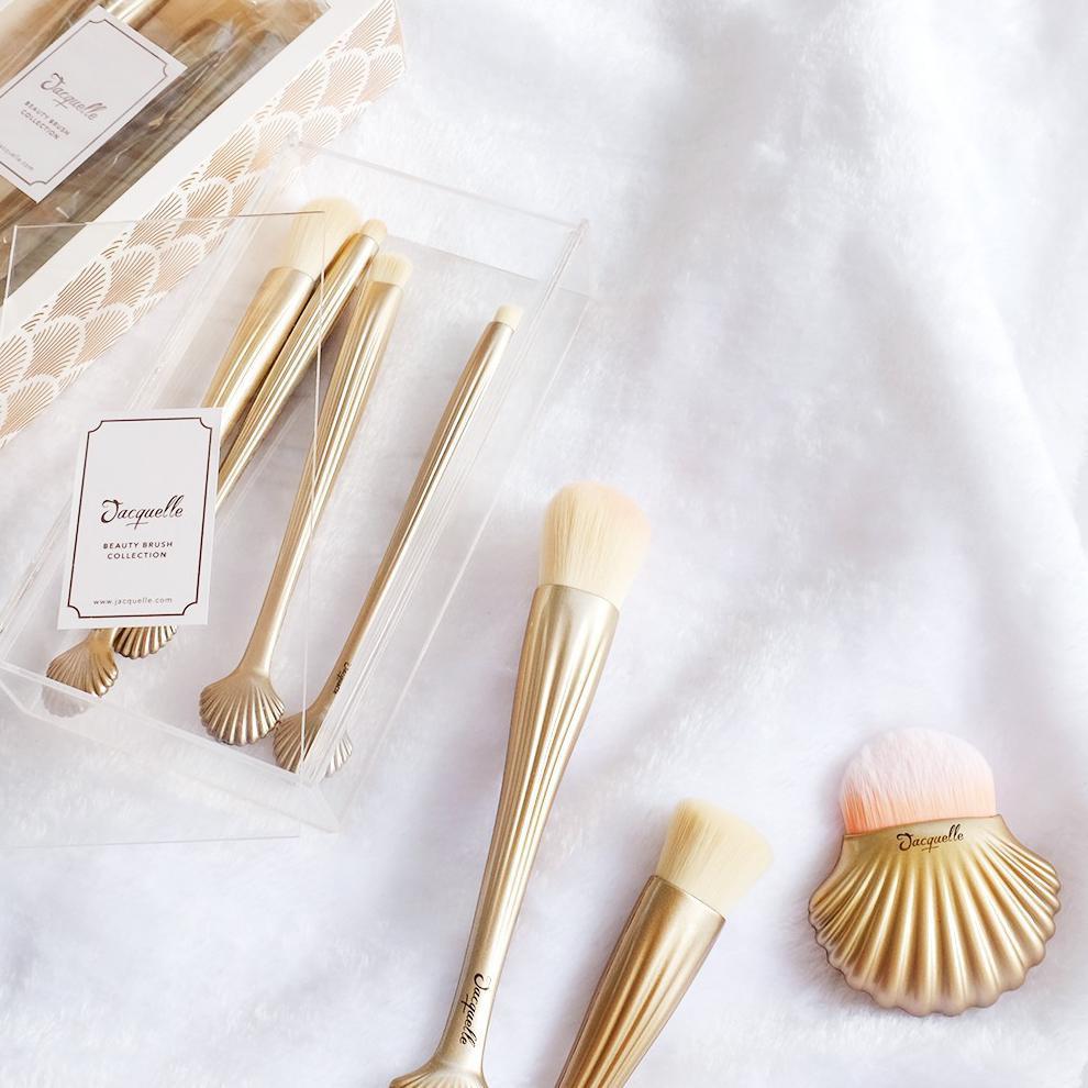 Jacquelle Beauty Brush Sea Shell 01 Foundation Shopee Indonesia Flow