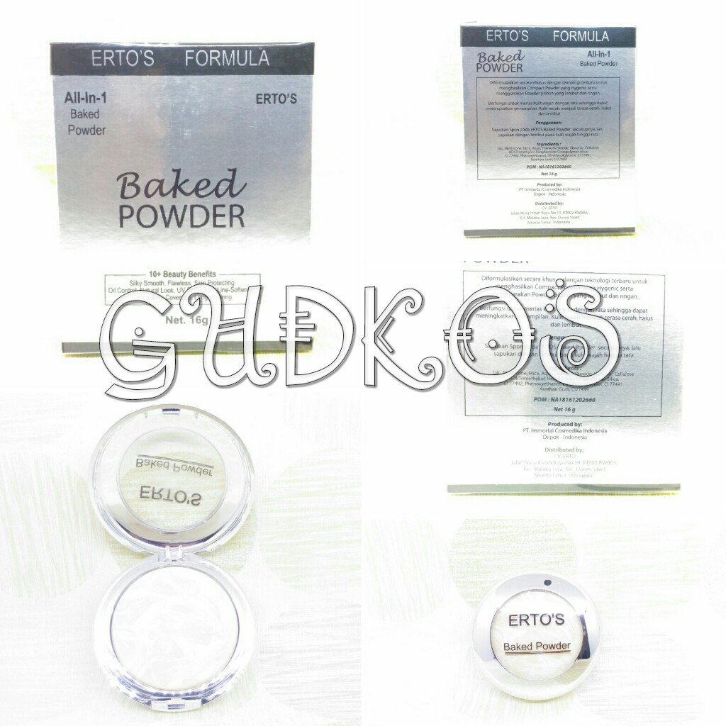 Ertos Baked Powder All In 1 Erto S Bedak Bpom Original Shopee Indonesia