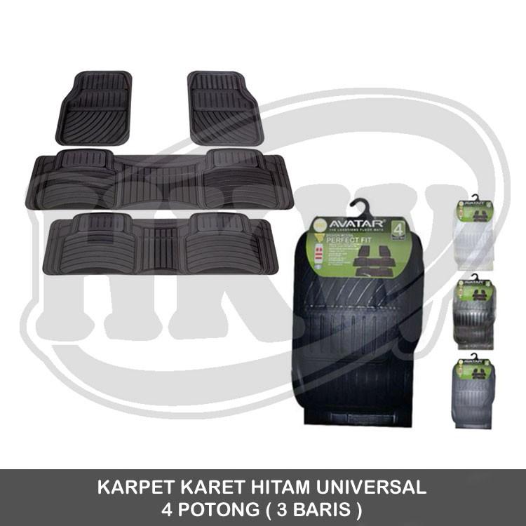 Brio / BRV/Mobilo / HRV / Jazz / All New jazz / Civic Durable Karpet Mobil Karet PVC Universal 3 pcs | Shopee Indonesia