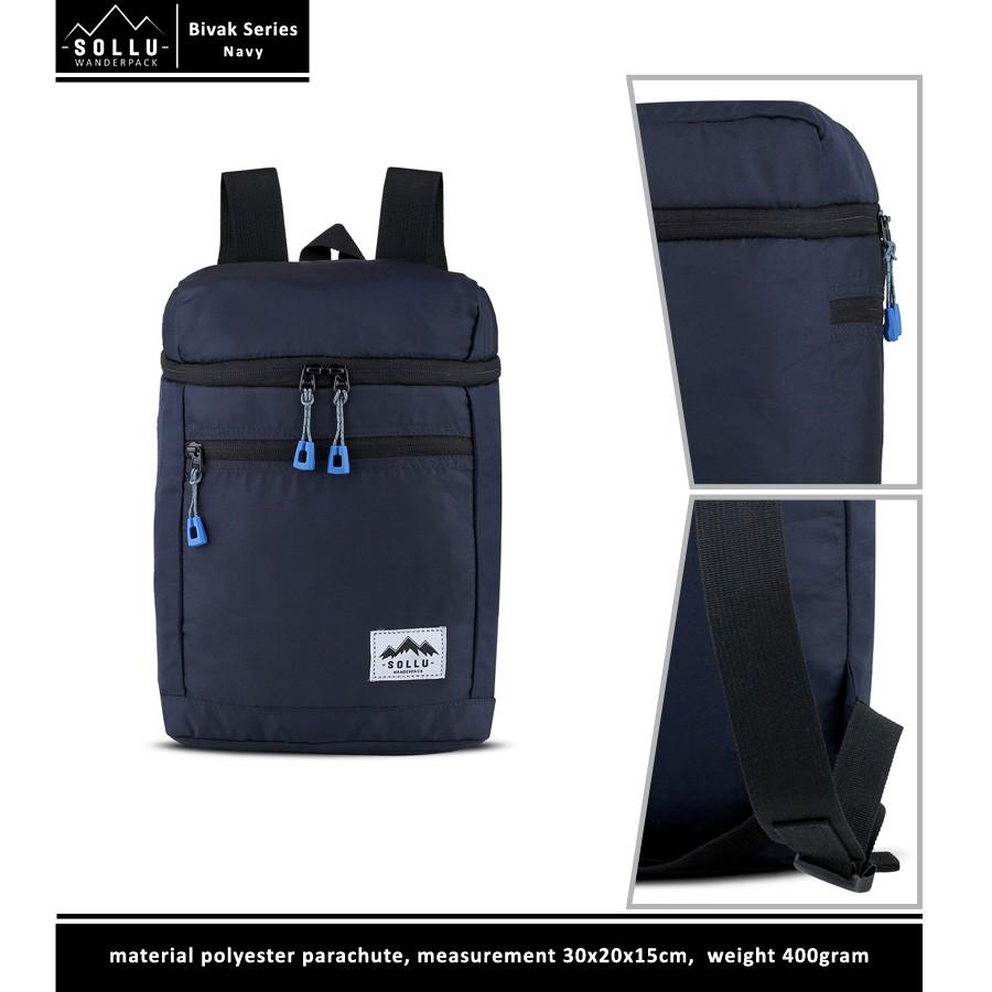 Toko Online Baggen Shopee Indonesia The Troopers Black Matte Backpack Ransel Bagus Ravre