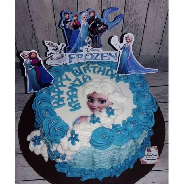 Kue Ulang Tahun Frozen Elsa Cake Ultah Tart Blackforest Vanilla