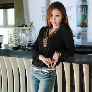 c4a17731012c0 Atasan Wanita Blouse Gamis Top Aksesoris Baju Wanita Import Murah (AF SH 07)