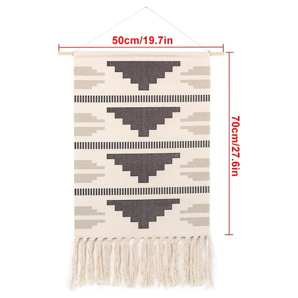 Boho Wall Decor With Tassels Macrame Woven Wall Hanging Tapestry Home Decor Dorm Nursery Living Room Decoration Shopee Indonesia