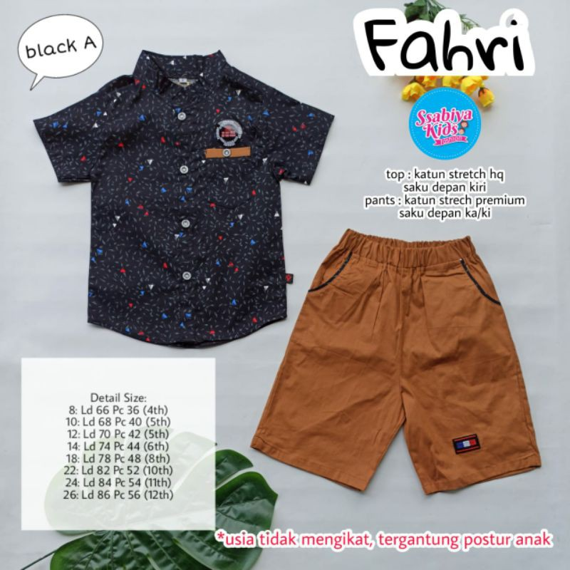 fahri set by ssaby kids