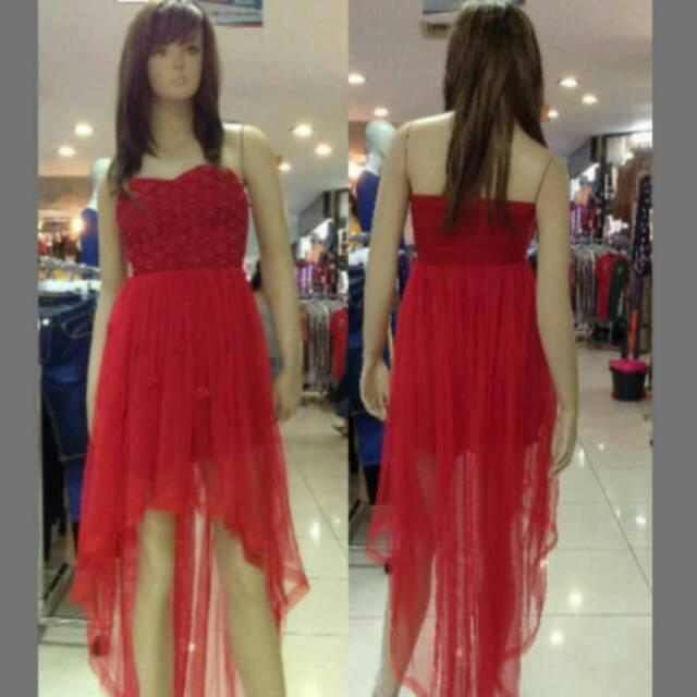 Dress Import Dress Ekor Bridesmaid Party Dress Gaun Pesta Korea Baju Pesta