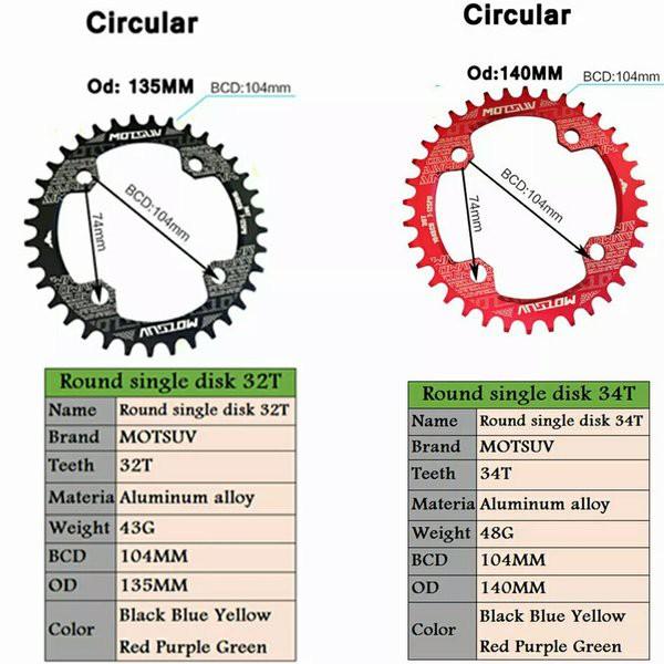 Opertional Crankset Screw MTB Bicycle Chainwheel Alloy Bolt Single Dental Plate