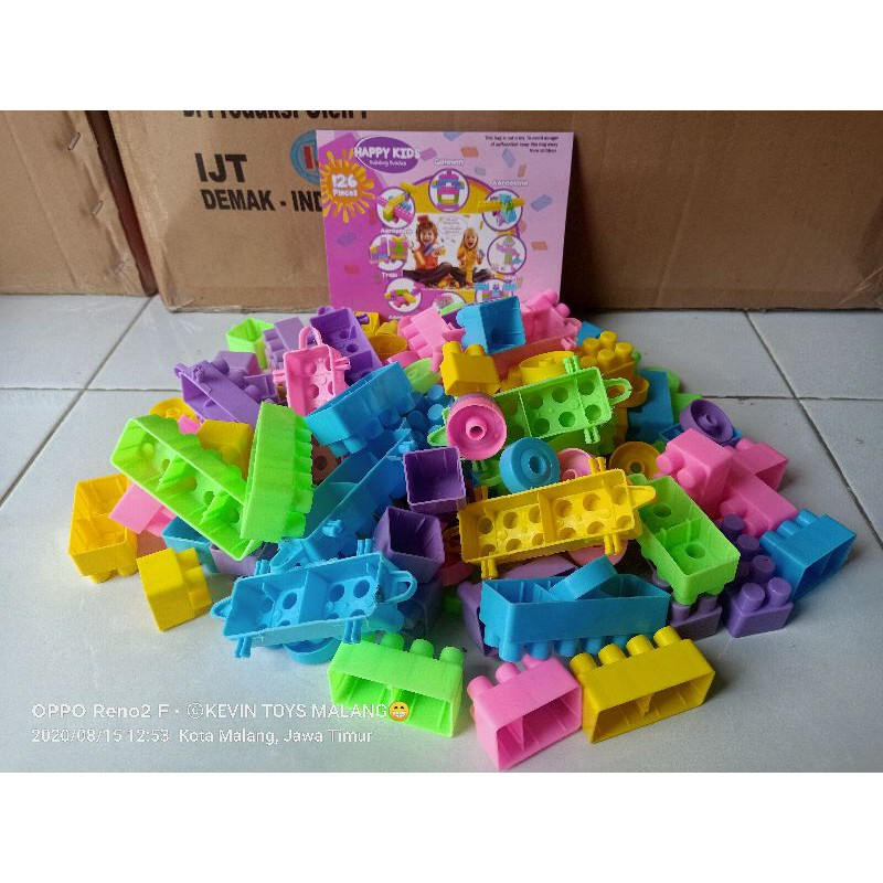 Mainan Anak Edukasi Lego Block Besar Happy Kids Isi 126pcs Happy Kids Building Block Kevin Toys Shopee Indonesia