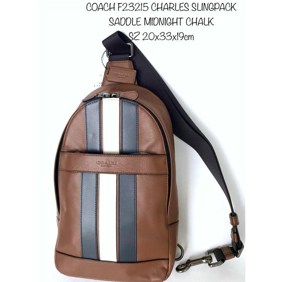Tas Cowok Coach Original Men Charles Camera Messenger Black Stickers Murah  Bangeett Tas Keren  8cd86891ea