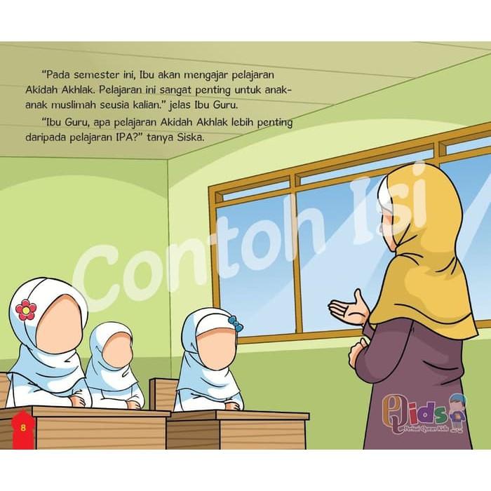 Kartun Muslimah Gambar Kartun Guru Perempuan Sedang Mengajar