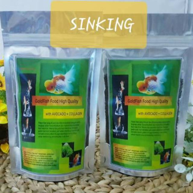 Goldfish Food High Quality With Alvocado Collagen 150gr Pakan