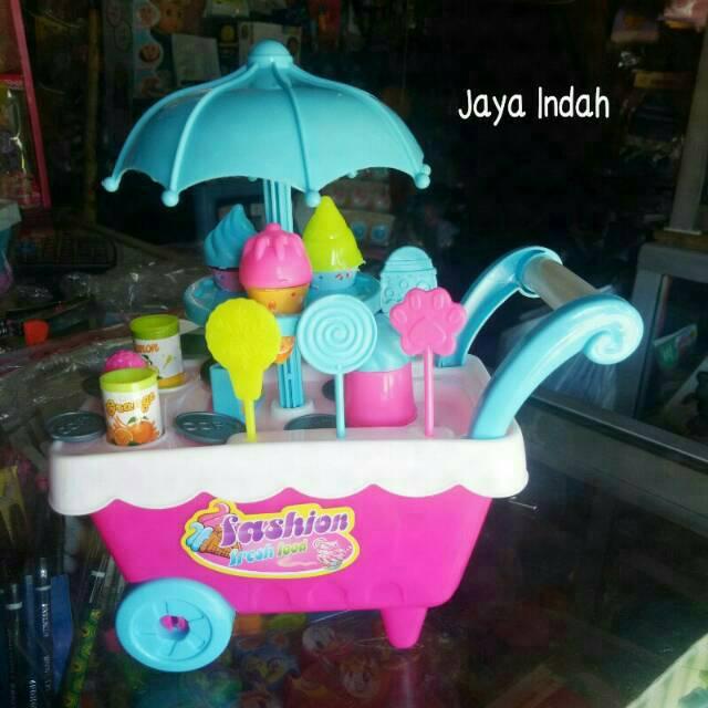 Mainan Jualan Es Krim Jual Es Krim Mainan Anak Ice Cream Es Grobak Trolly Lucu Gerobak Es Krim Shopee Indonesia