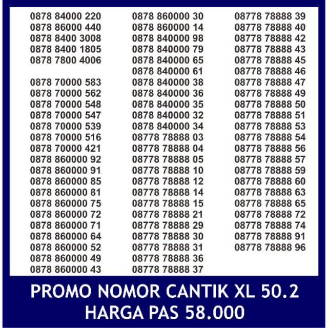 Nomer Cantik XL Axiata 4G Ready Kartu Perdana Nomor Pilihan Rapih | Shopee Indonesia