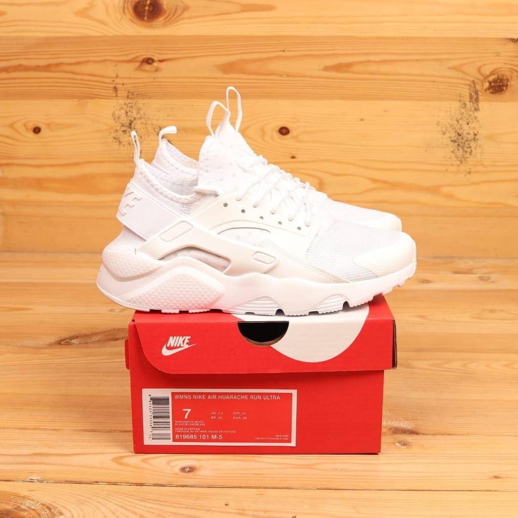 Sepatu Nike Air Huarache Full white Premium Original BNIB Sneakers Wanita