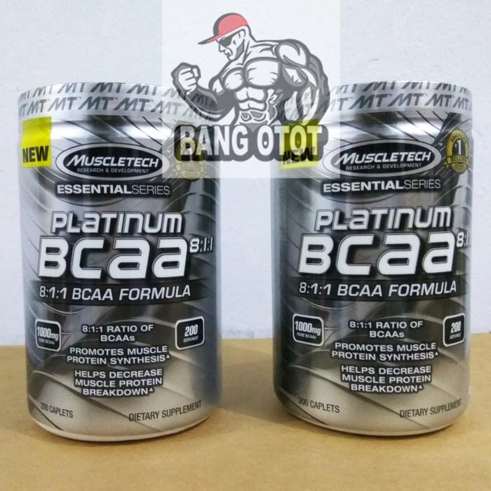 Muscletech Platinum BCAA Eceran 20 Tabs. Source · MuscleTech Muscle Tech Platinum BCAA 8:1:1 811 1000mg Isi 200 Caplets Capsules