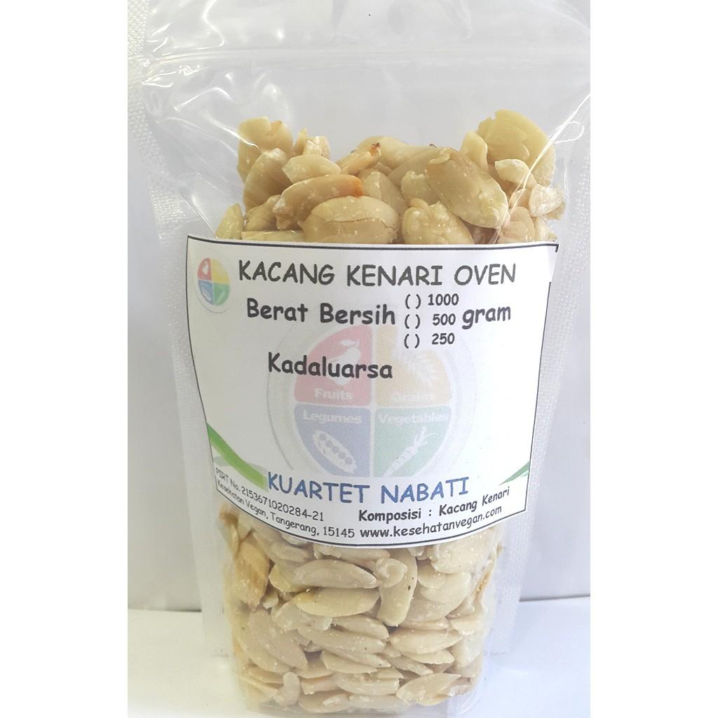 250gr Roasted Almond Kacang Kupas Cangkang Panggang Slice Mentah Irisan Oven Size Besar 27 30 Shopee Indonesia