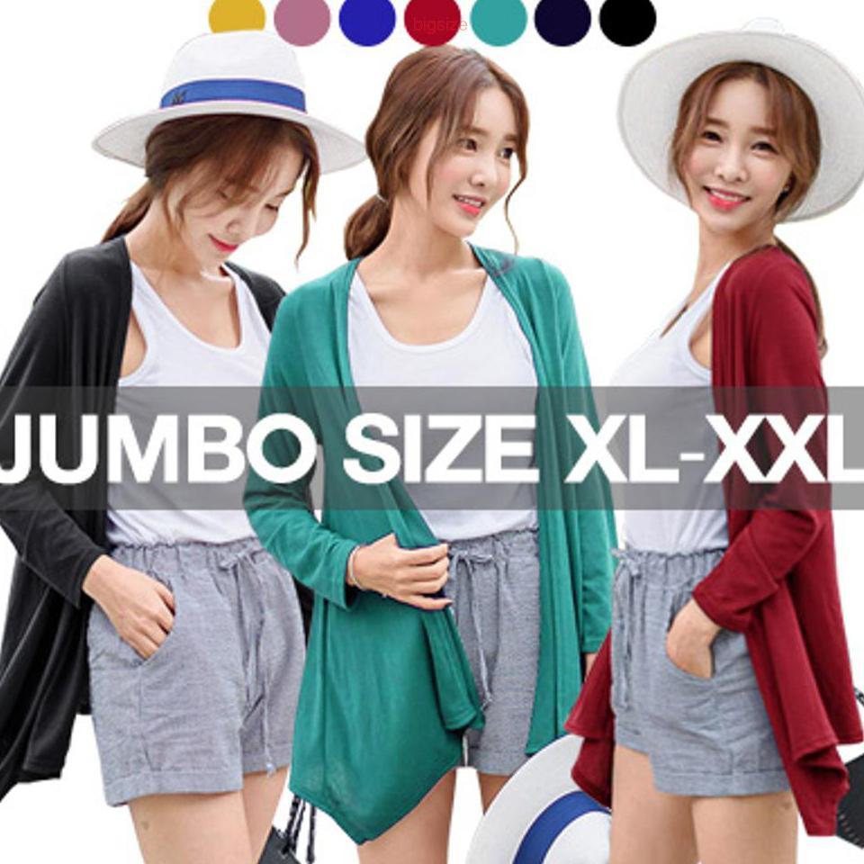 Bigsize Minibel Shawl Cardigan Kardigan Cewe Jumbo Wanita Asymmetric Kimono Jaket Jk435 Shopee Indonesia
