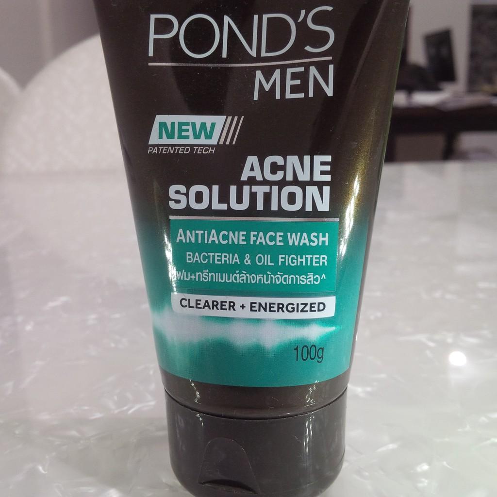Ponds Men Acne Solution Face Wash 100 Gr Shopee Indonesia Gel 20