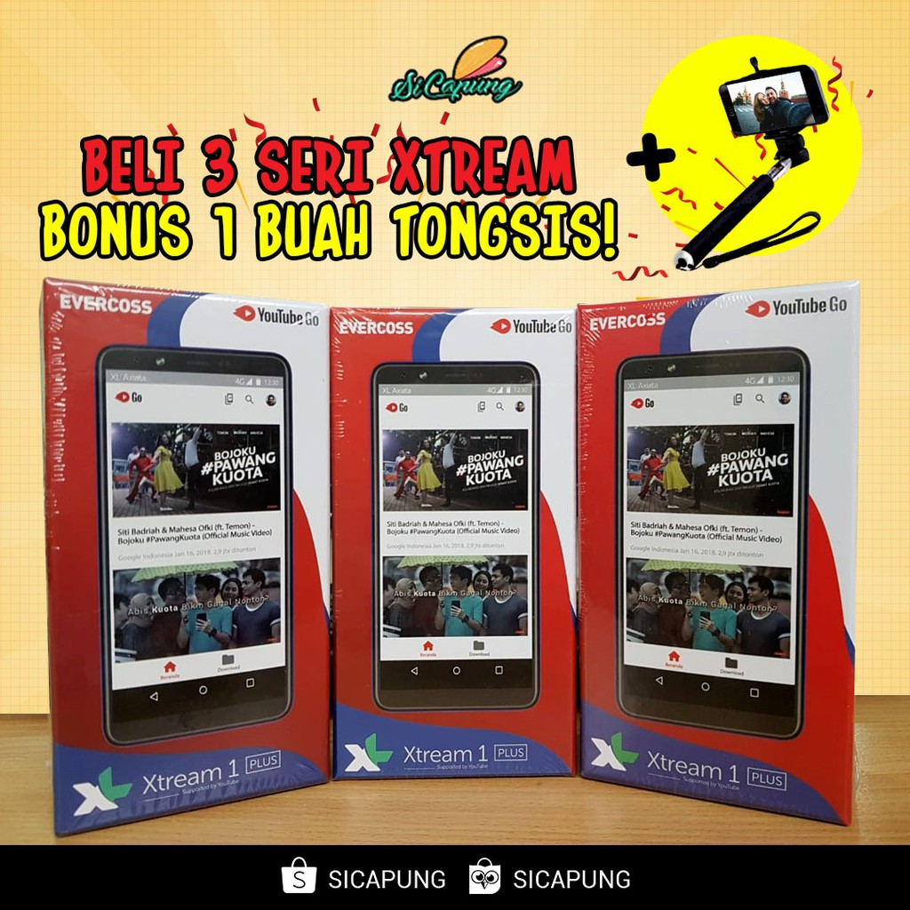 Evercoss Xtream 1 Plus U6 Ram 1gb Rom 8gb Extra Bonus Shopee Evercross Extream Pro Indonesia