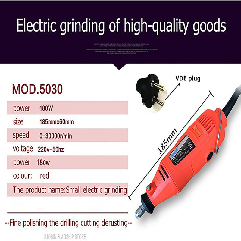 220V 180W Electric Rotary Tool Mini Drill with 40pcs Power Tools