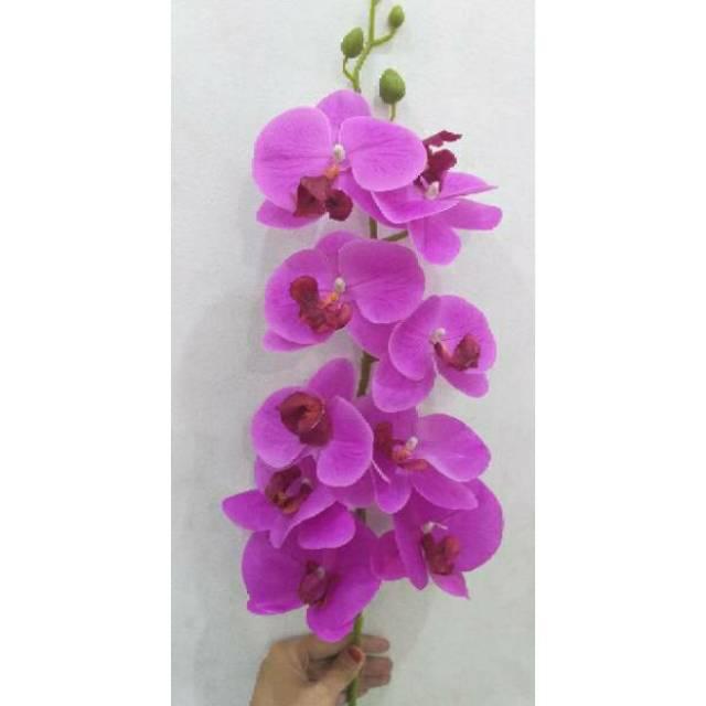 Bunga Anggrek Latex Anggrek Artificial Anggek Ungu Shopee Indonesia