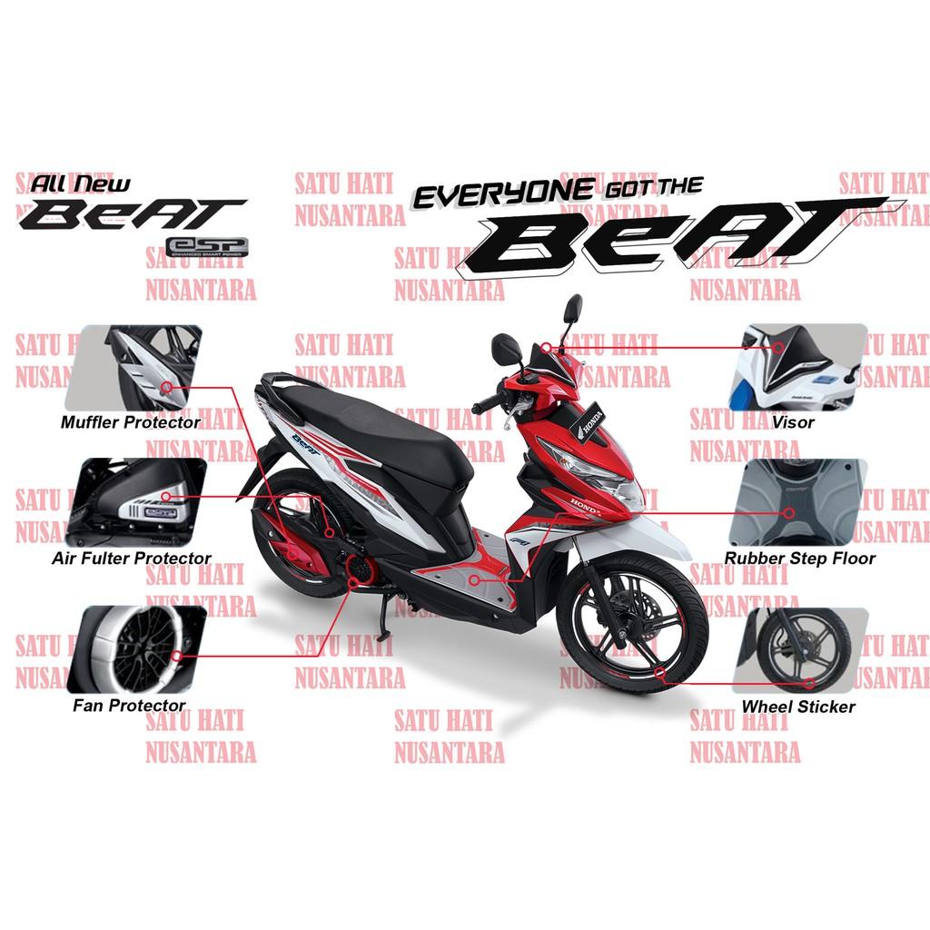 Vario 125 Esp 150 Honda Oem Paket Aksesoris Komplit Chrome New Cbs Iss Bionic Red Klaten Ori Abu Doff